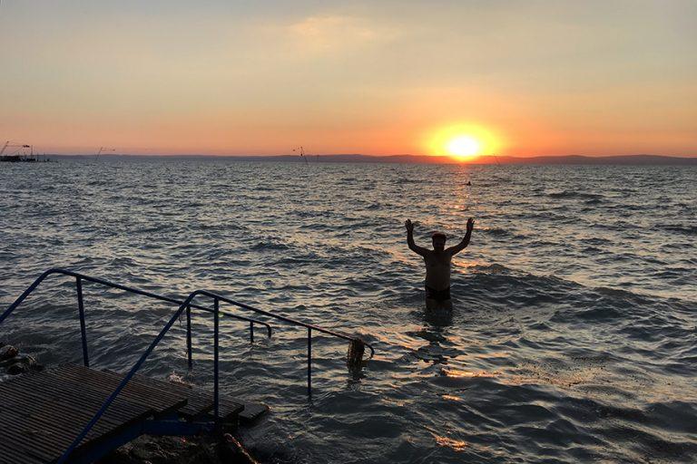 Apus de soare la Lacul Balaton, Ungaria 2018