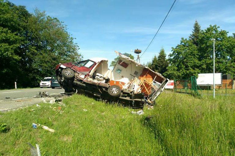 Motorhome implicat în accident în Sąborze, în nordul Poloniei