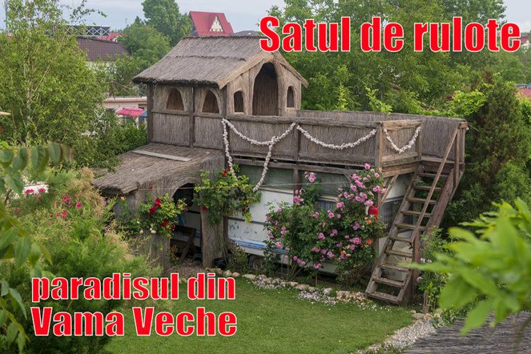 Satul de rulote din Vama Veche – un mic paradis verde