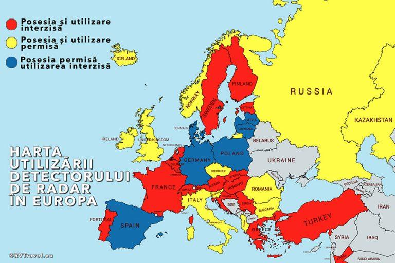 Călătoriile în Europa – detectorul de radar la autorulotă sau rulotă