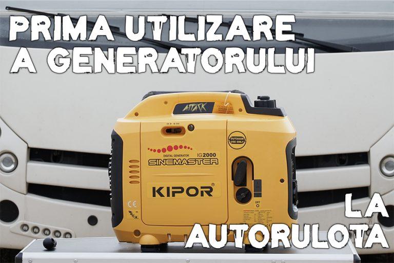 Prima utilizare a generatorului de curent la autorulotă